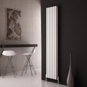 Milano Aruba Ayre - Aluminium White Vertical Designer Radiator - 1800mm x 350mm (Double Panel)