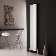 Milano Aruba Ayre - Aluminium White Vertical Double Panel Designer Radiator 1800 x 350
