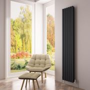 Milano Aruba Ayre - Aluminium Anthracite Vertical Designer Radiator - 1800mm x 350mm (Double Panel)