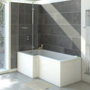 Milano 1700mm Square Shower Bath Left Hand