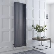Milano Windsor - Anthracite Traditional Vertical Column Radiator - 1800mm x 564mm (Triple Column)