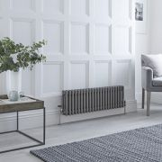 Milano Windsor - Lacquered Raw Metal Horizontal Traditional Column Radiator - 300mm x 1010mm (Triple Column)