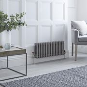 Milano Windsor - Lacquered Raw Metal Horizontal Traditional Column Radiator - 300mm x 785mm (Triple Column)