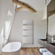 Lazzarini Way - Torino - Mineral White Designer Heated Towel Rail - 1360 x 550mm