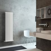 Lazzarini Way Grosseto V - White Vertical Designer Radiator - 1506mm x 392mm