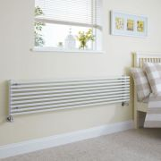 Milano Cayos - Luxury White Horizontal Designer Radiator Sideways Panels 342mm x 1780mm