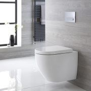Milano Irwell - Oval Wall Hung Toilet with Soft Close Seat