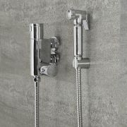 Milano Mirage - Modern Thermostatic Douche Hose with Wall Bracket - Chrome