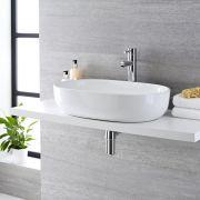 Milano Overton - Oval Ceramic Countertop Basin - 590mm x 410mm