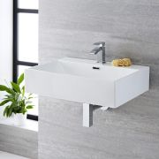 Milano Elswick - Rectangular Ceramic Countertop Basin 600 x 420mm