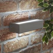 Biard Ternay IP44 LED Outdoor Wall Light - Brushed Steel