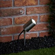 Biard Le Mans IP44 Outdoor Spike Light - Brushed Steel