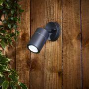 Biard Le Mans IP44 Adjustable Outdoor Wall Light - Black