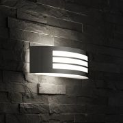Biard Orleans Small Outdoor Wall Light - Brushed Steel