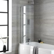 Milano Portland - Curved Bath Shower Screen
