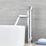 Milano Mirage - Modern Deck Mounted High Rise Mono Basin Mixer Tap - Chrome