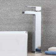 Milano Parade - Modern Deck Mounted High Rise Basin Mixer Tap - Chrome