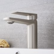 Milano Hunston - Modern Mono Basin Mixer Tap - Brushed Nickel