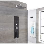 Milano Lisse - Concealed Shower Tower with 200mm Square Head and Wall Arm