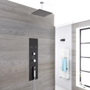 Milano Lisse - Concealed Shower Tower with 200mm Square Head and Ceiling Arm