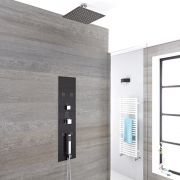 Milano Lisse - Concealed Shower Tower with 300mm Square Head and Short Ceiling Arm