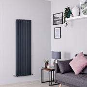 Milano Capri - Anthracite Flat Panel Vertical Designer Radiator - 1600mm x 472mm (Double Panel)