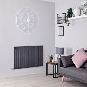 Milano Capri Electric - Anthracite Flat Panel Horizontal Designer Radiator - 635mm x 1000mm
