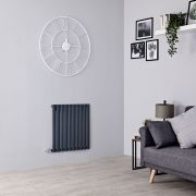 Milano Aruba Electric - Anthracite Horizontal Designer Radiator - 635mm x 595mm