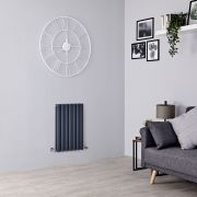 Milano Aruba - Anthracite Horizontal Designer Radiator - 635mm x 415mm (Double Panel)
