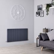 Milano Aruba - Anthracite Horizontal Designer Radiator - 635mm x 1180mm (Double Panel)