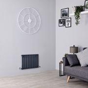 Milano Aruba - Anthracite Horizontal Designer Radiator - 400mm x 595mm