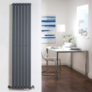Milano Capri - Anthracite Flat Panel Vertical Designer Radiator - 1600mm x 354mm