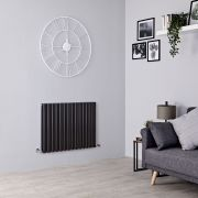 Milano Aruba - Black Horizontal Designer Radiator - All Sizes