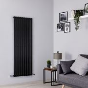Milano Aruba - Black Vertical Designer Radiator - 1600mm x 590mm