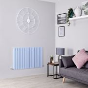 Milano Capri - Baby Blue Flat Panel Horizontal Designer Radiator - 635mm x 1000mm (Double Panel)