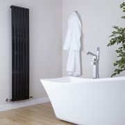 Milano Capri - Black Flat Panel Vertical Designer Radiator - 1600mm x 354mm