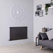 Milano Aruba - Black Horizontal Designer Radiator - 635mm x 1000mm