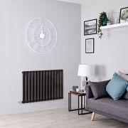Milano Alpha Electric - Black Horizontal Designer Radiator - 635mm x 980mm