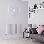 Milano Capri - Light Grey Flat Panel Horizontal Designer Radiator - 635mm x 1000mm (Double Panel)