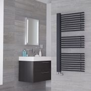 Lazzarini Way Grando - Anthracite Designer Heated Towel Rail - 1190mm x 600mm