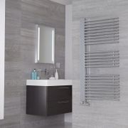 Lazzarini Way Grando - Chrome Designer Heated Towel Rail - 1190mm x 600mm