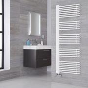 Lazzarini Way Grado - White Designer Heated Towel Rail - 1600mm x 600mm