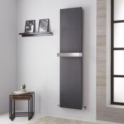 Lazzarini Way Ischia - Anthracite Vertical Designer Radiator - 1800mm x 450mm