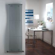 Milano Wave - Silver Vertical Designer Radiator - 1600mm x 460mm