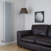 Milano Java - Silver Vertical Designer Radiator - 1600mm x 354mm