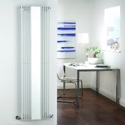 Milano Reflect - White Vertical Designer Radiator With Mirror - 1600mm x 420mm