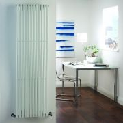 Milano Wave - White Vertical Designer Radiator - 1600mm x 460mm