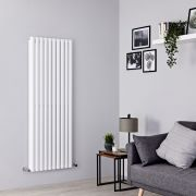 Milano Aruba - White Vertical Designer Radiator - 1600mm x 590mm (Double Panel)