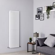 Milano Aruba - White Vertical Designer Radiator - 1600mm x 472mm (Double Panel)
