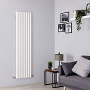 Milano Java - White Vertical Designer Radiator - 1600mm x 472mm